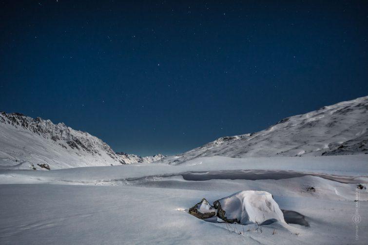 Der Sternenhimmel bei Mondschein. | © Eric Shambroom Photography