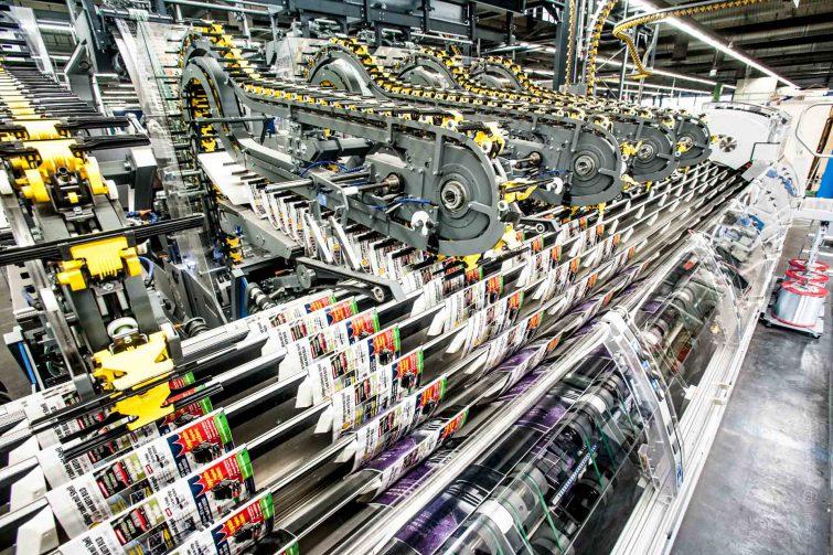 Diese Maschine kann bis zu 40.000 Exemplare pro Stunde verarbeiten. | © Eric Shambroom Photography