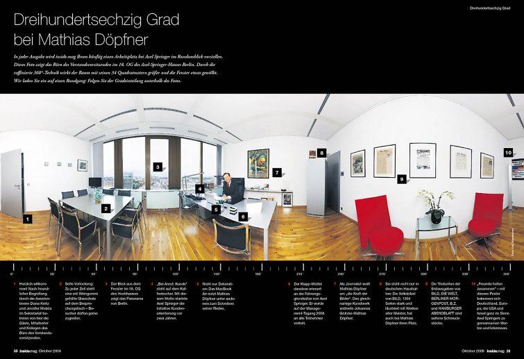 Dr. Mathias Döpfner, Vorstandvorsizender Axel Springer: 360° Panoramafoto | © Eric Shambroom Photography