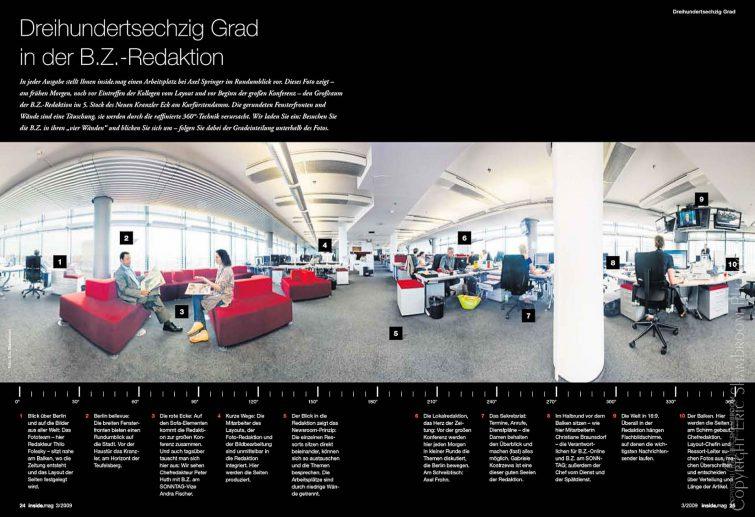 Redaktion Berlinzeitung B.Z., Axel Springer: 360° Panoramafoto | © Eric Shambroom Photography