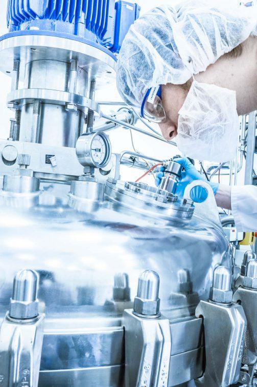 Herstellung von Biopharmazeutika | © Eric Shambroom Photography
