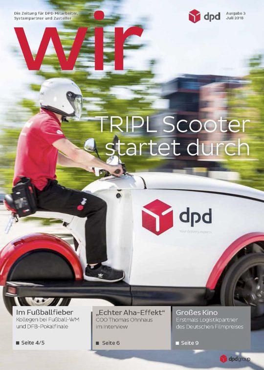 DPD Deutschland TRIPL-eScootern